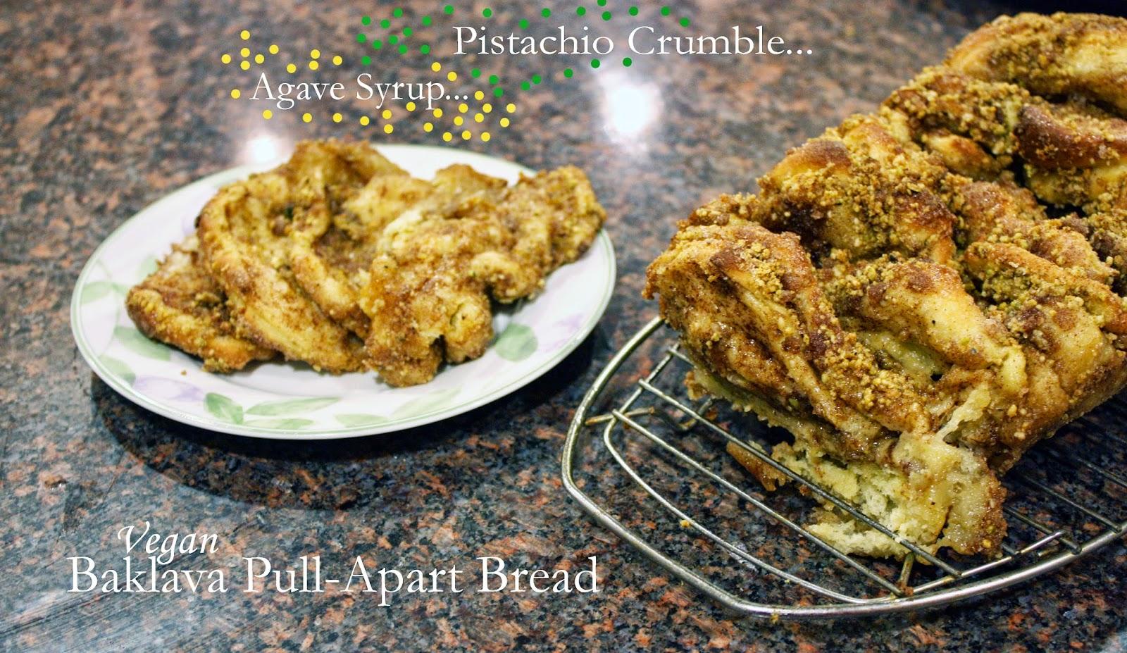 vegan baklava pull-apart bread
