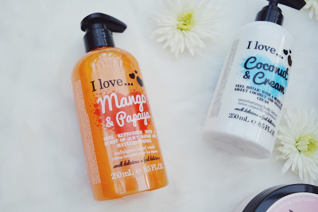 I Love... Mango & Papaya hand wash review, I Love... skincare review, beauty blog, FashionFake