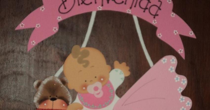Tutorial de Artesanu00edas: Cartel de Bienvenida para bebu00e9s