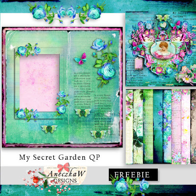 "Free scrapbook ""My Secret Garden qp"" from Aneczkaw designs"