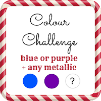 52 Christmas Card Throwdown Challenge blue or purple + any metallic