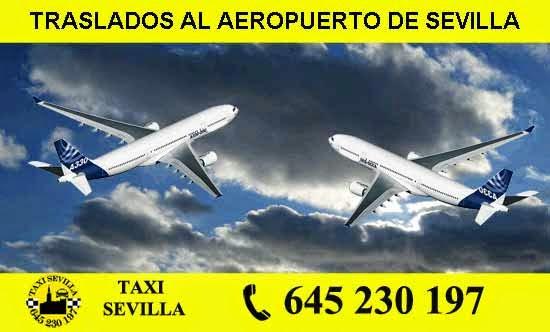 Reservar taxi para el Aeropuerto de Sevilla.