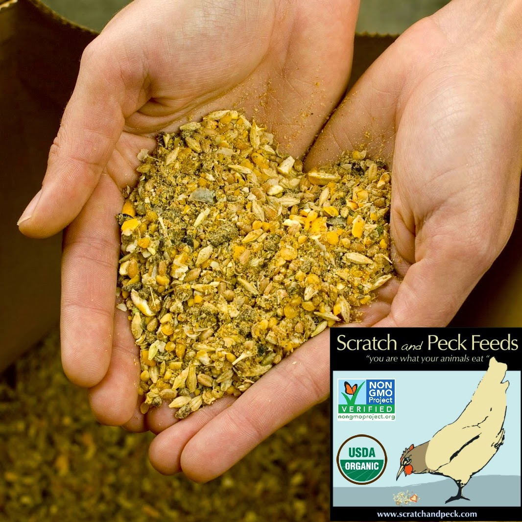 A 25 lb bag of Scratch and Peck Feeds Naturally Free Layer Feed!