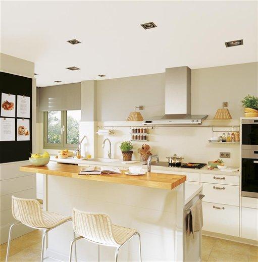 Trendy home la cocina del deseo - Barra cocina madera ...