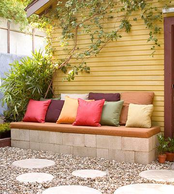 Not for boring decorando jardines y terrazas - Banco jardin barato ...