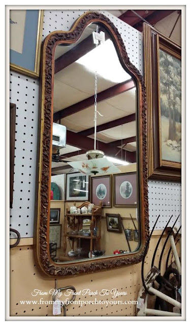 Gold Vintage Mirror-A Day Antiquing- Antique Shopping
