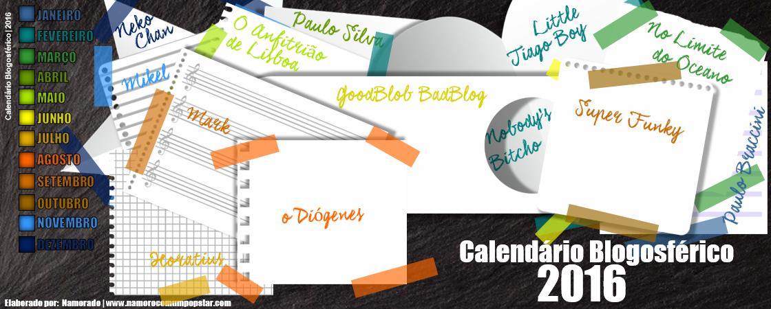 Calendário Blogosférico 2016