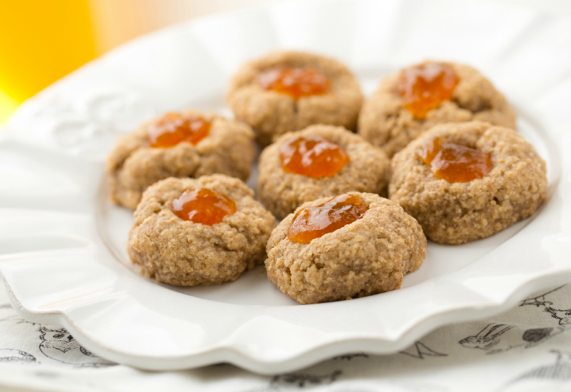 Almond Jam Thumbprint Cookies from Healthy Happy Vegan Kitchen