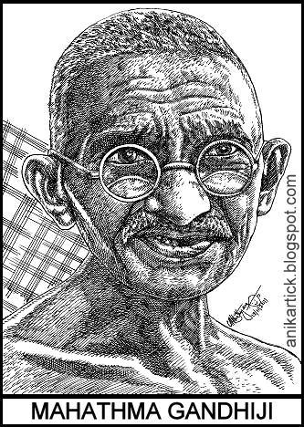mahatma gandhi portrait art and his history essay writing from  history of mahatma gandhi