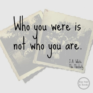 Who you were is not who you are.  from J.A. White's The Thickety