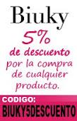 5% de descuento en Biuky