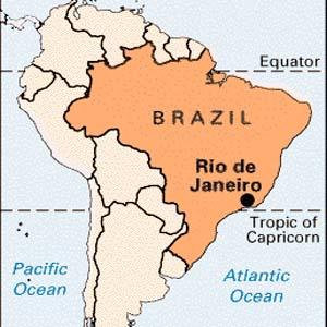 Cool Wallpapers Brazil Rio De Janeiro Map - Rio de janeiro map