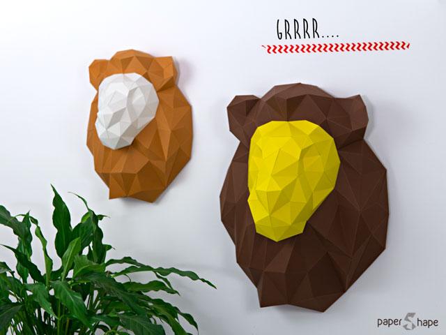 Löwe Origami 3d