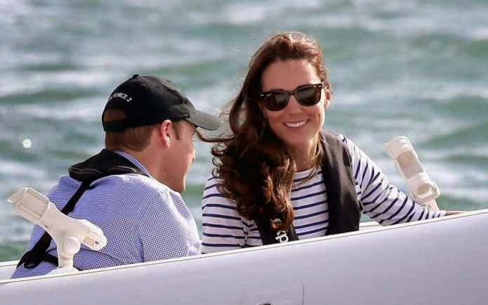 William and Kate Enjoy Day Sailing