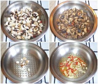 ciuperci calite in ulei de masline cu usturoi si ciusca iute, retete cu ciuperci, preparate din ciuperci, retete culinare, ciuperci gatite, mancare de ciuperci, retete de mancare preparare, retete ciuperci picante preparare, retete usoare, retete rapide, retete simple, retete cu gust, retete pentru puturosi,