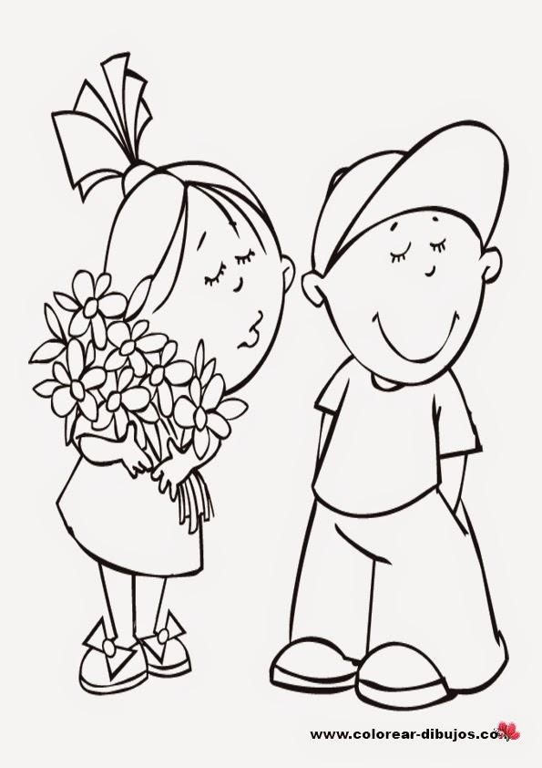 Dibujos de amor: Imagenes De Dibujos De Amor Para Pintar Y Colorear