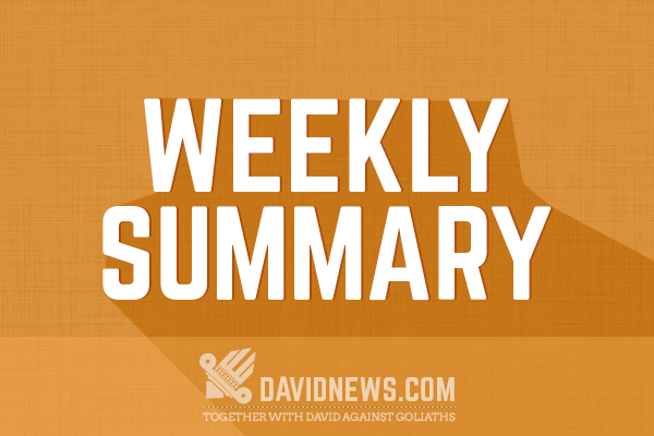 weekly summary Review last week's weekly market update important information the weekly market update is published every friday, after us markets close.