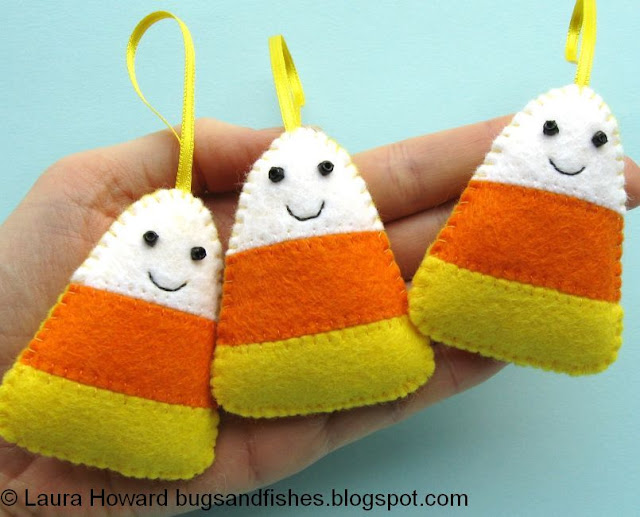 http://bugsandfishes.blogspot.co.uk/2014/10/how-to-felt-candy-corn-ornaments.html