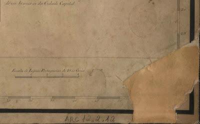 Escala da Planta da Província do Rio de Janeiro de 1823