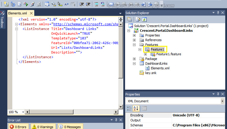 sharepoint 2010 c# create list instance