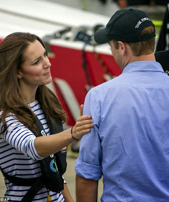 Kate Middleton and Prince William show affection