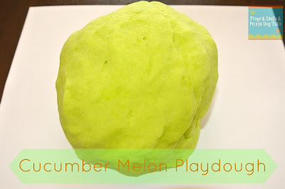Cucumber Melon Playdough- how to make