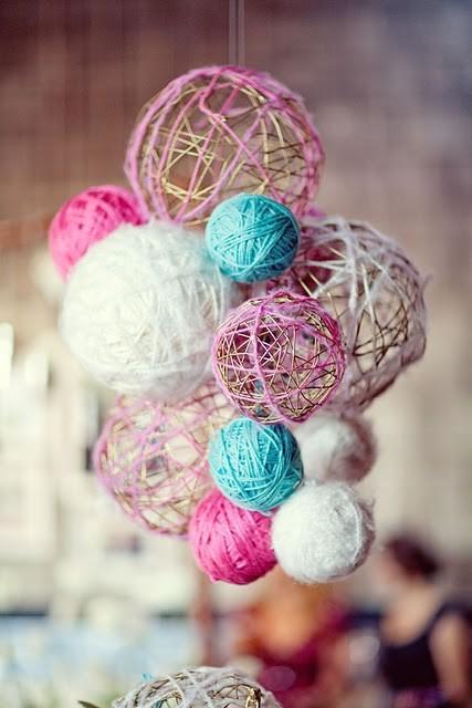 Beyza Zembil Balon Ve Ipten Dekoratif Süs Yapimi