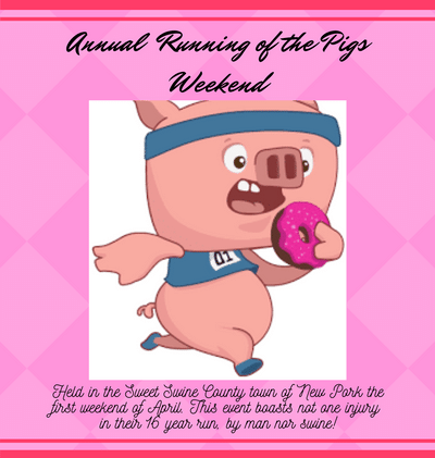"Record Attendance and No Mishaps at Annual ""Running of the Pigs"" Weekend"