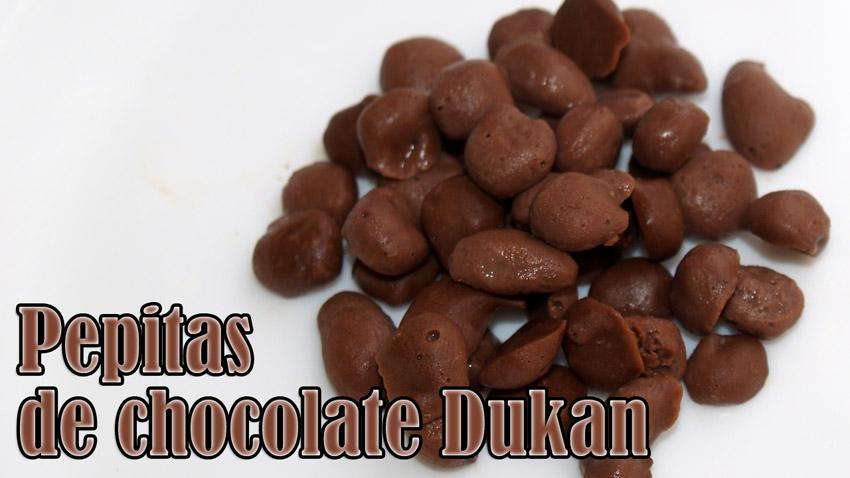 como hacer pepitas de chocolate dukan