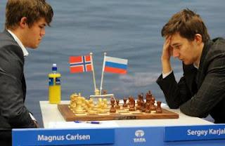 Échecs : Magnus Carlsen 1-0 Sergey Karjakin - Photo © Tata Steel