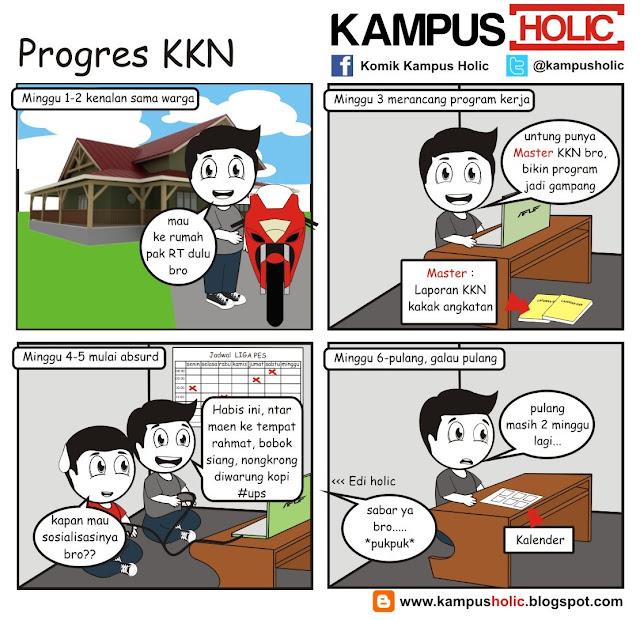 #203 Progres KKN komik kampus holic