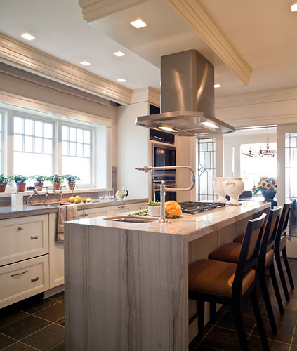 Cool designers alert david powell and fenwick bonnell - Kitchen island with cooktop and prep sink ...