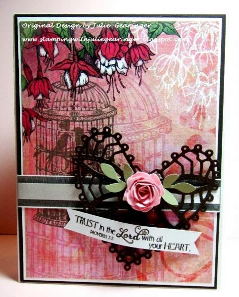 ODBD Clean Heart, ODBD Heart and Soul Paper Collection, ODBD Custom Ornate Hearts Dies, ODBD Customer Card of the Day Julie Gearinger