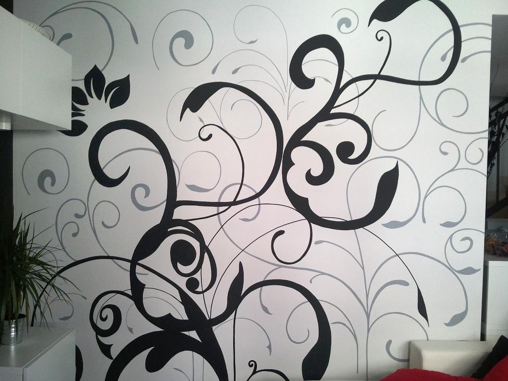 El vinilo pintado con rotuladores para paredes de olga - Paredes con vinilos ...