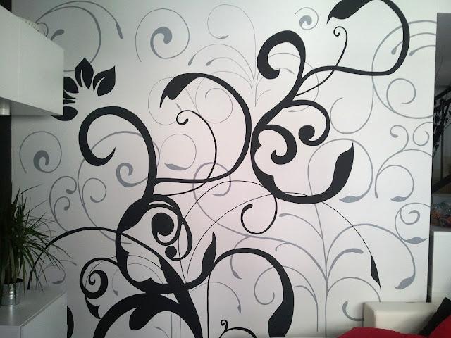 El vinilo pintado con rotuladores para paredes de olga - Vinilos pared ikea ...