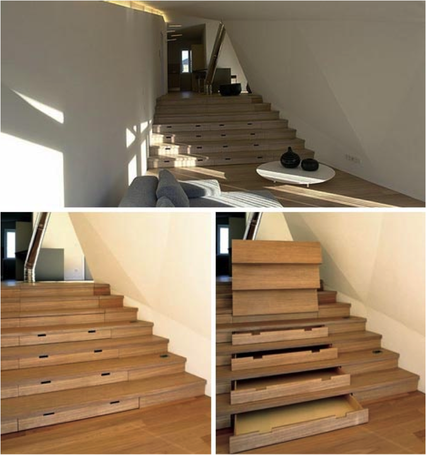 Stairs with Storage Drawers