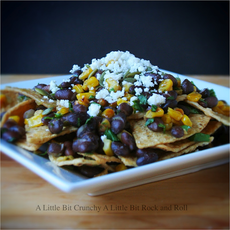 ... Little Bit Rock and Roll: Black Bean and Charred Corn Chilaquiles