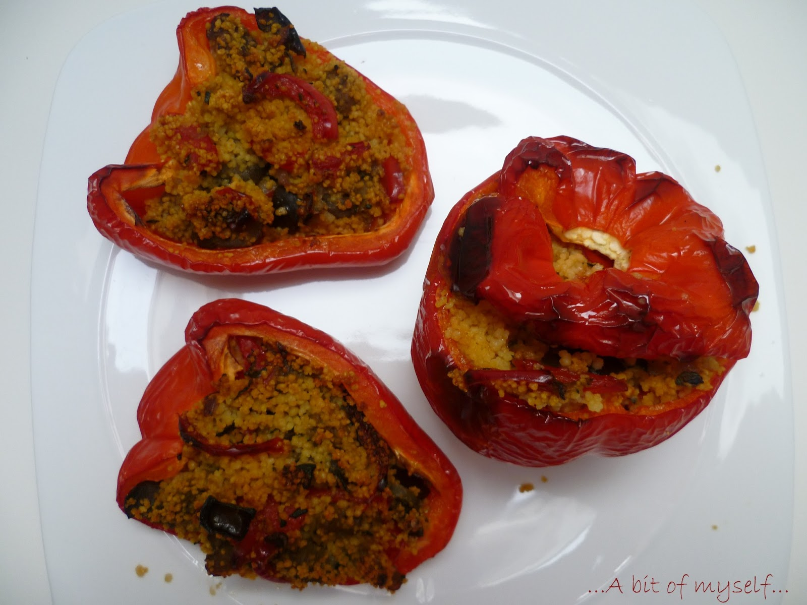 cous-cous and vegetables stuffed peppers