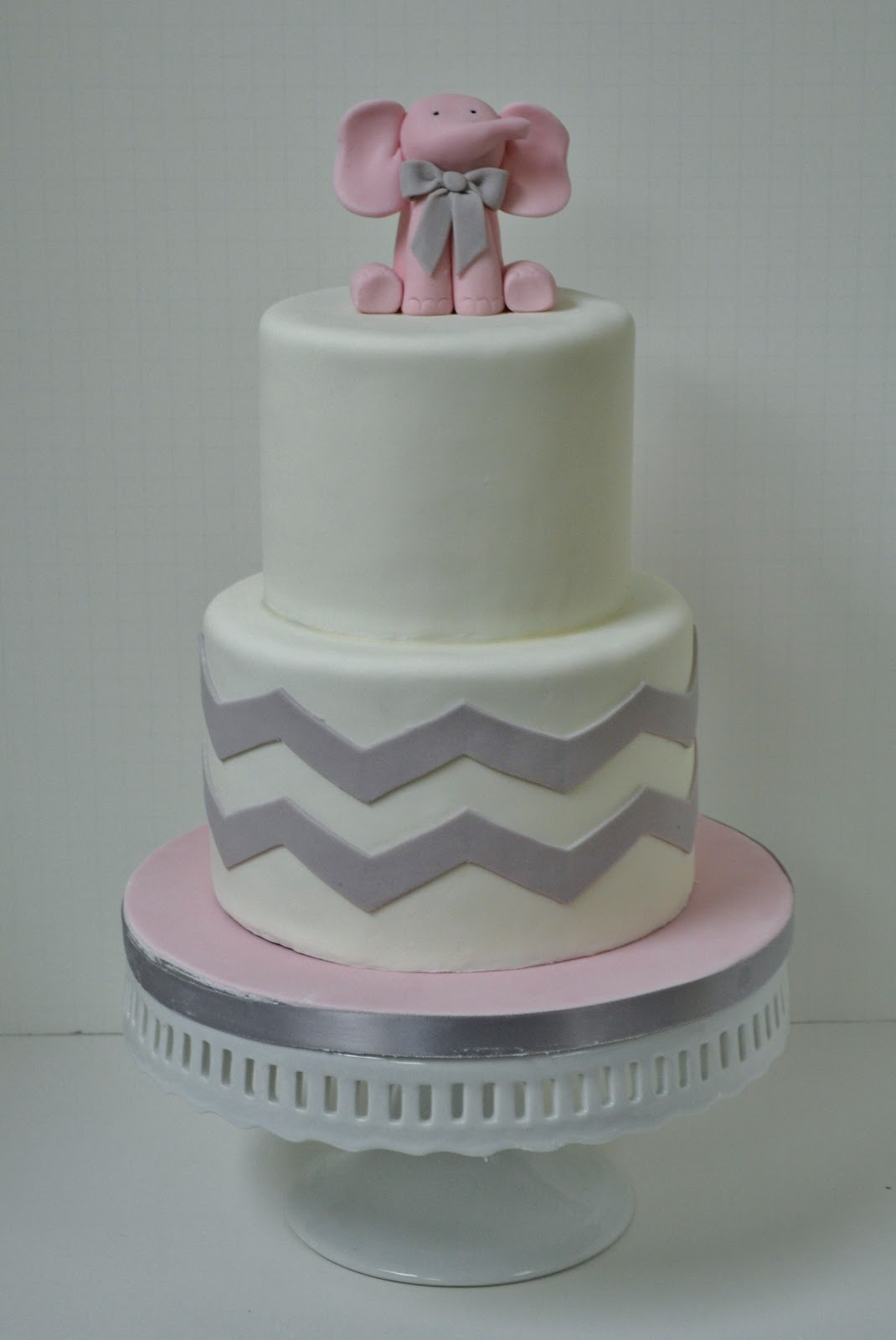 chevron elephant baby shower cake pink elephant baby shower cake