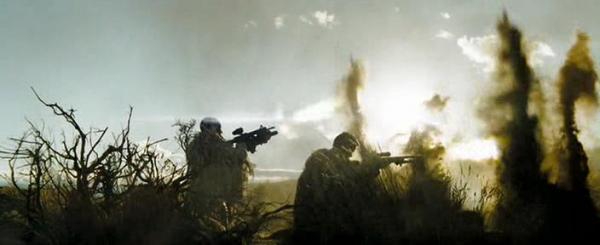 Фильм Стрелок. В кадре расстрел вертолетом снайперской пары