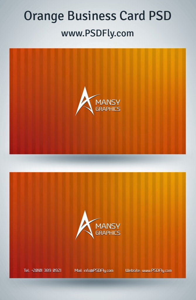 Orange business card psd psd fly download free psd files the best part is that our print template is ready to print made in 300dpi rgb color mode so do not hesitate anymore and download the business card colourmoves