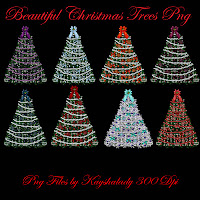 Beautiful Christmas Trees PNG Tubes