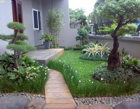 ide taman belakang rumah minimalis dengan penataan yang