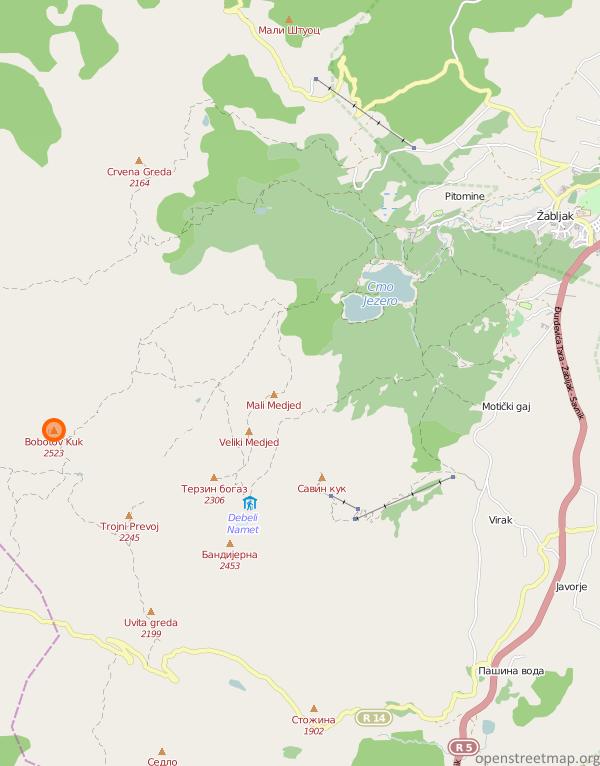 Bobotov Kuk Mapa