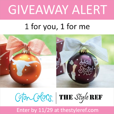 Coton Colors Holiday Ornament Giveaway