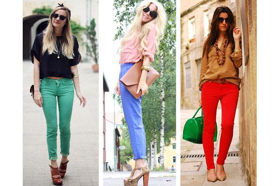 Trouvez votre beaut pantalons color s apprenez les - Que porter avec un pantalon bleu marine ...