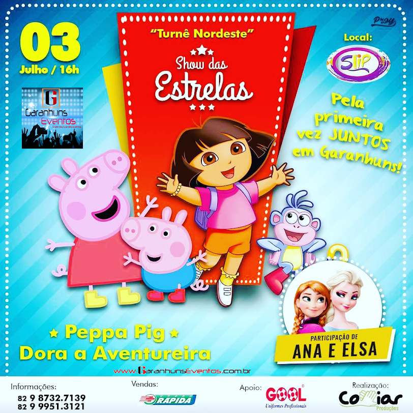 PEPA PIG + DORA AVENTUREIRA