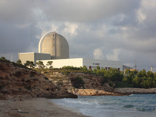 Beach and Tarragona Nuclear Center - Spain