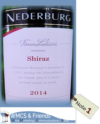 Nederburg Foundation Shiraz Südafika 2014