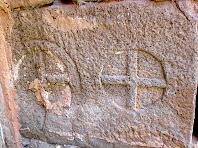 Decoració d'un sarcòfag de Sant Pere de Monistrol